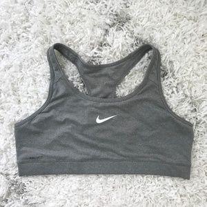 Nike Gray Dri-FIT Sports Bra